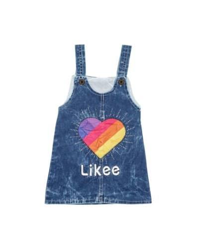 Τζιν Αμάνικο Φορεματάκι «Rainbow Heart»